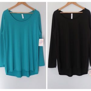 LuLaRoe Lynnae long sleeve shirts bundle size 2XL